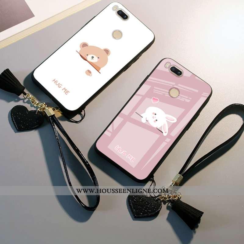 Coque Xiaomi Mi A1 Dessin Animé Protection Téléphone Portable Petit Tout Compris Ours Blanche