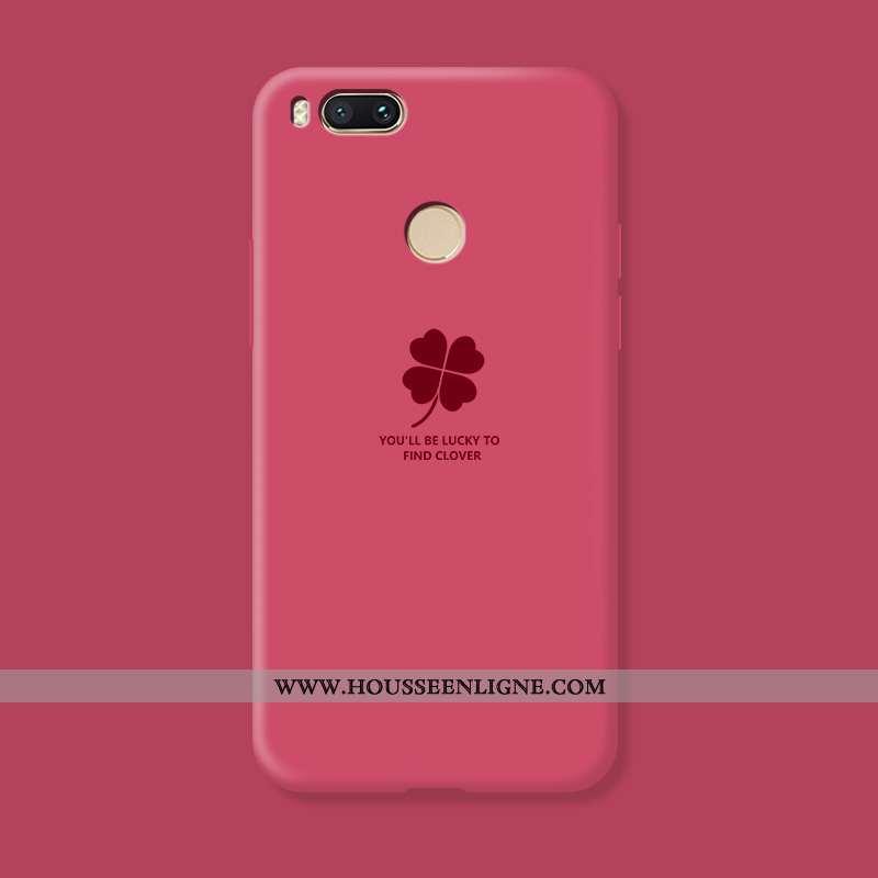Coque Xiaomi Mi A1 Fluide Doux Silicone Rouge Amoureux Personnalité Incassable