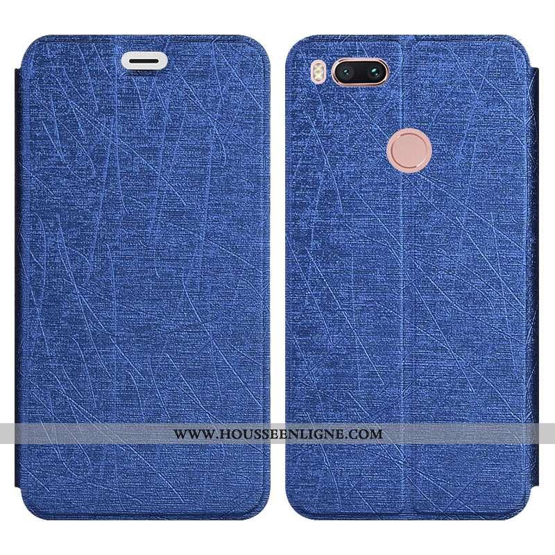 Coque Xiaomi Mi A1 Protection Personnalité Incassable Tout Compris Silicone Support Petit Bleu