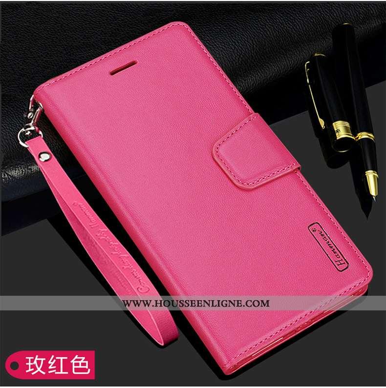 Coque Xiaomi Mi A2 Cuir Cuir Véritable Luxe Étui Véritable Rouge Petit Rose
