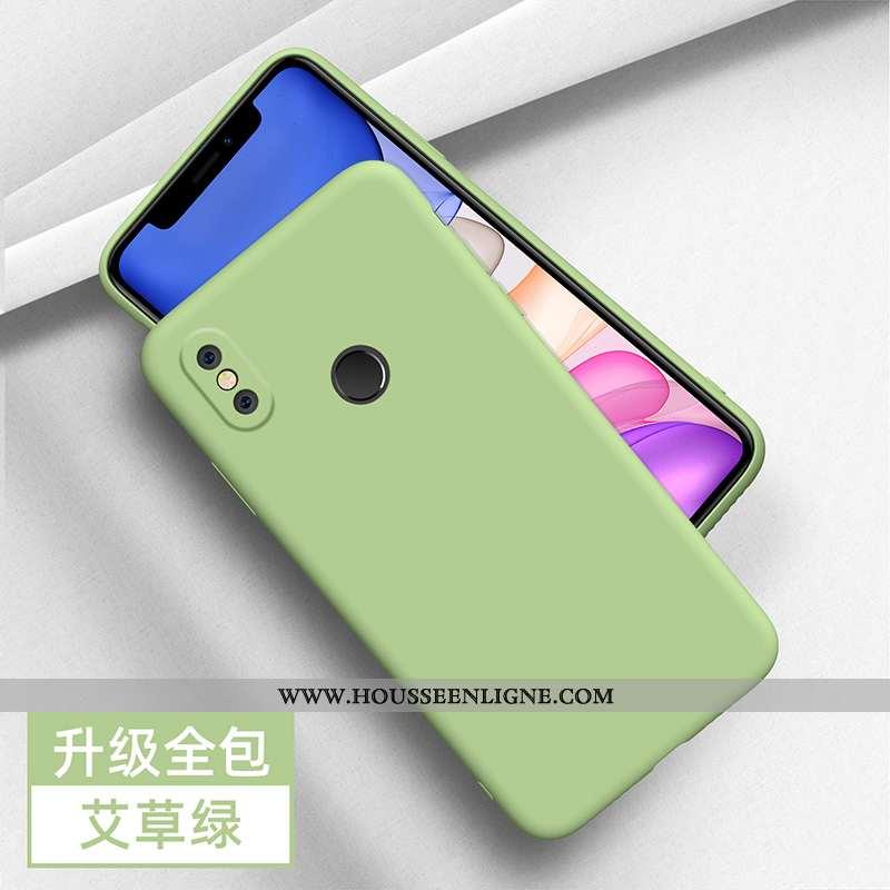 Coque Xiaomi Mi A2 Légère Silicone Protection Tendance Étui Jeunesse Net Rouge Verte