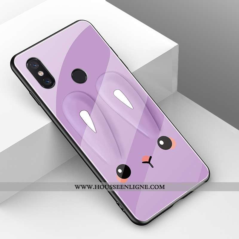 Coque Xiaomi Mi A2 Lite Mode Protection Créatif Rouge Violet Tendance Téléphone Portable