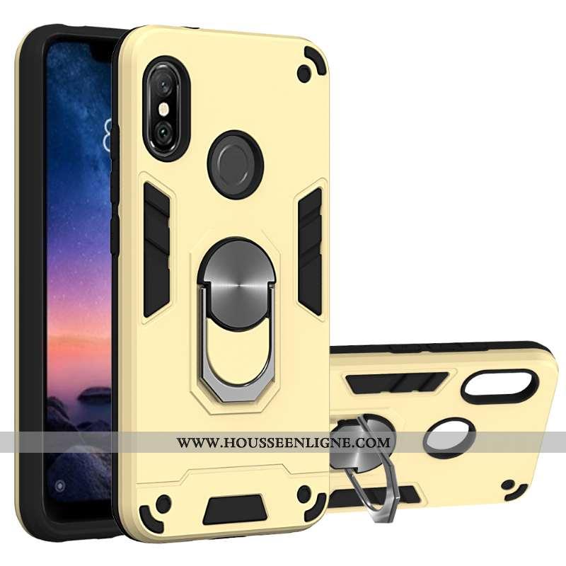 Coque Xiaomi Mi A2 Lite Protection Antidérapant Téléphone Portable Petit Support Jaune À Bord