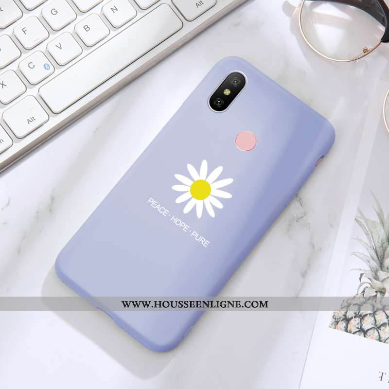 Coque Xiaomi Mi A2 Lite Silicone Protection Net Rouge Étui Téléphone Portable Tout Compris Bleu