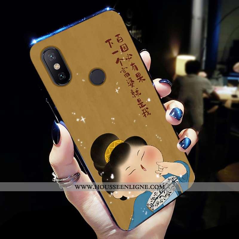Coque Xiaomi Mi A2 Lite Ultra Tendance Peinture Fluide Doux Personnalité Mode Téléphone Portable Jau