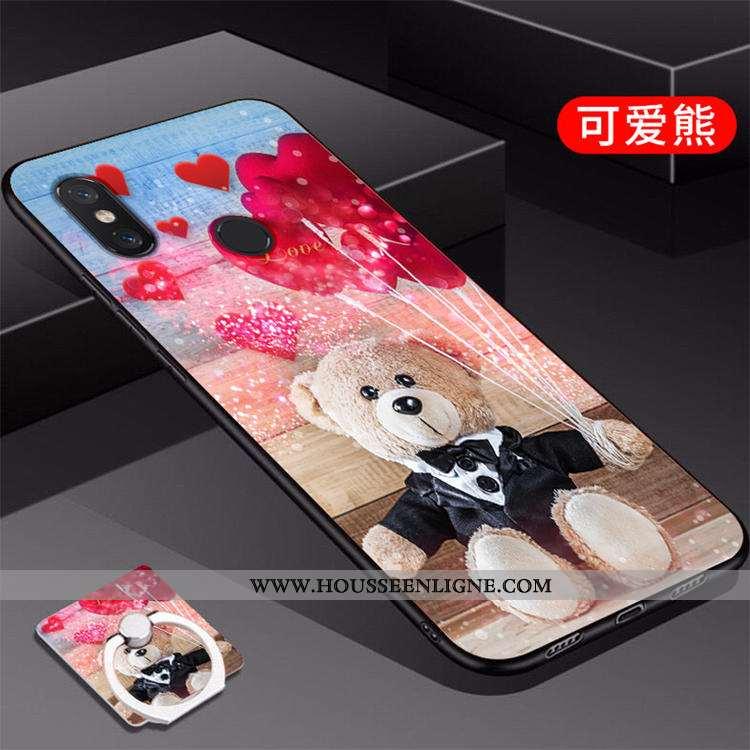 Coque Xiaomi Mi A2 Personnalité Créatif Fluide Doux Étui Téléphone Portable Peinture Rouge
