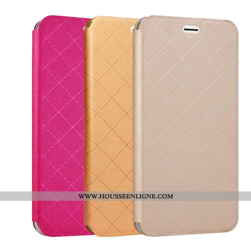 Coque Xiaomi Mi A2 Protection Cuir Téléphone Portable Étui Housse Carte Doré