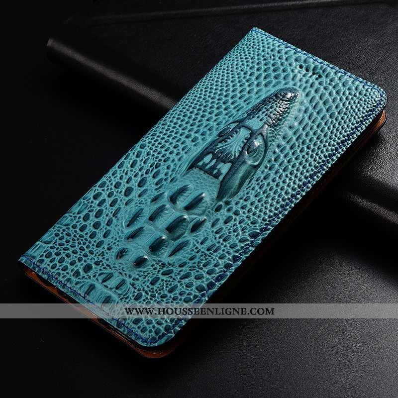 Coque Xiaomi Mi A2 Protection Cuir Véritable Tout Compris Étui Cuir Bleu Petit