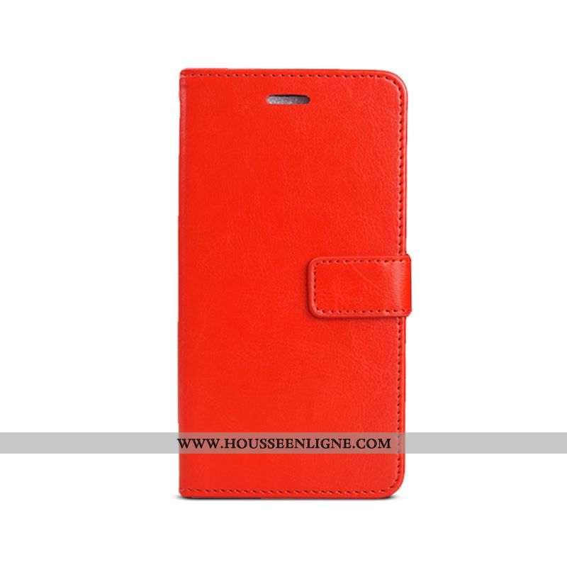 Coque Xiaomi Mi A2 Silicone Personnalité Petit Cuir Étui Housse Rouge
