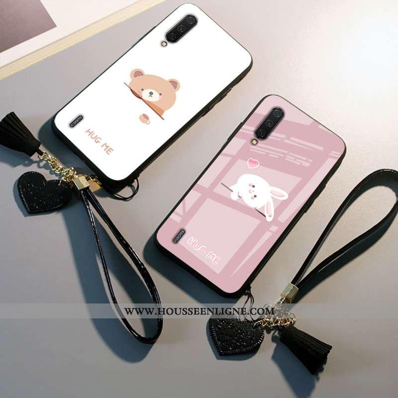 Coque Xiaomi Mi A3 Dessin Animé Protection Net Rouge Tout Compris Petit Rose Étui