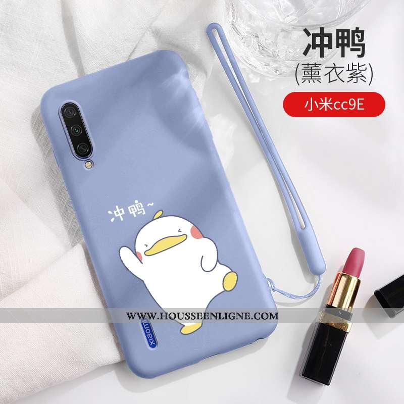 Coque Xiaomi Mi A3 Personnalité Créatif Étui Bleu Dessin Animé Ultra Fluide Doux