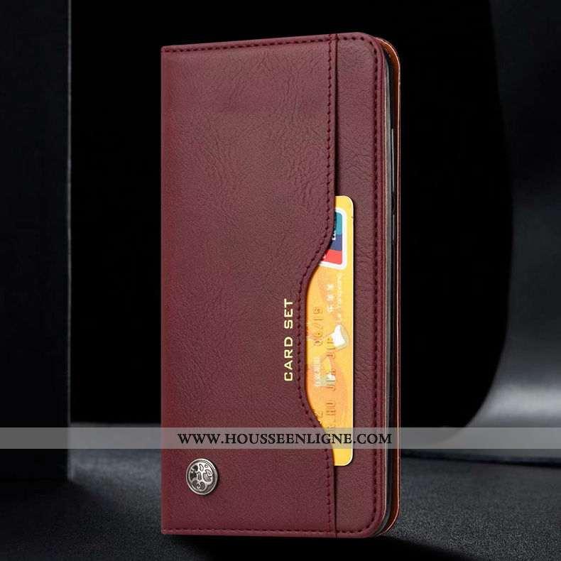 Coque Xiaomi Mi A3 Protection Cuir Véritable Marron Tout Compris Business Cuir Étui