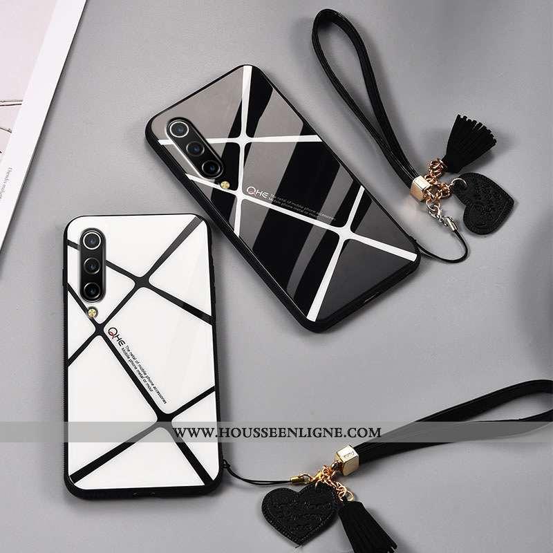Coque Xiaomi Mi A3 Silicone Mode Protection Créatif Simple Étui Amoureux Noir