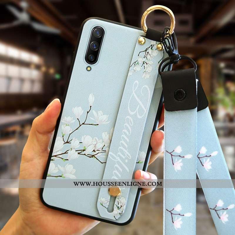 Coque Xiaomi Mi A3 Tendance Fluide Doux Tout Compris Téléphone Portable Protection Créatif Étui Bleu