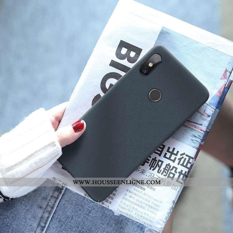 Coque Xiaomi Mi Max 3 Personnalité Créatif Étui Couleur Unie Tendance Bleu Simple