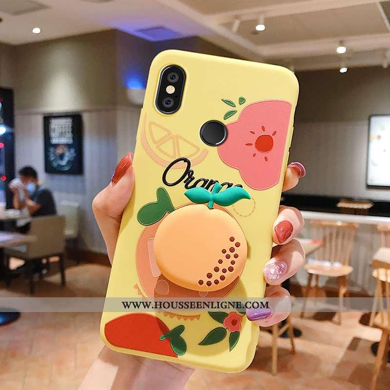 Coque Xiaomi Mi Max 3 Silicone Protection Fruit Net Rouge Incassable Petit Jaune