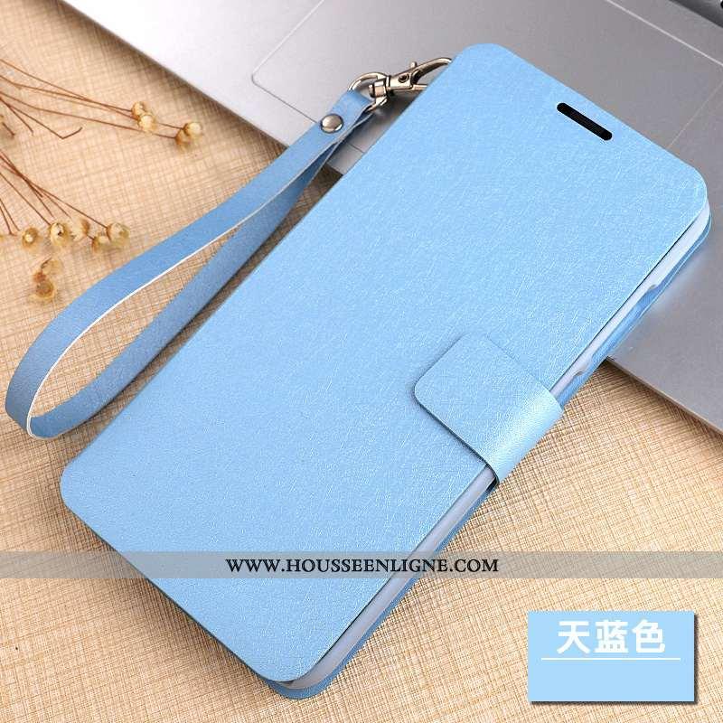 Coque Xiaomi Mi Mix 2 Cuir Protection Étui Téléphone Portable Clamshell Bleu Petit