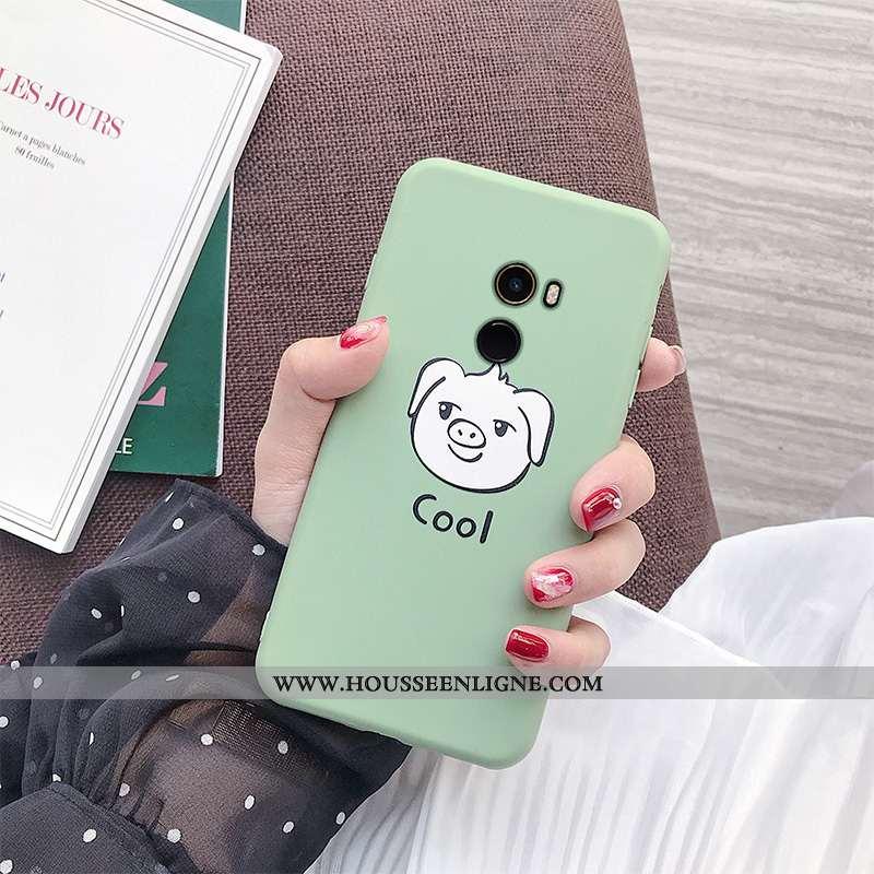 Coque Xiaomi Mi Mix 2 Fluide Doux Silicone Tout Compris Vert Téléphone Portable Frais Verte