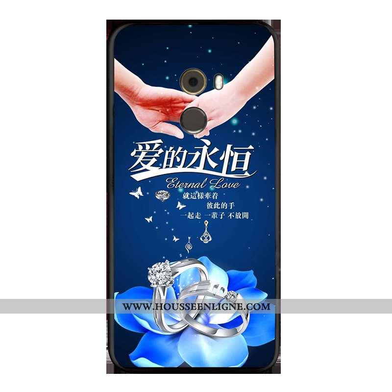 Coque Xiaomi Mi Mix 2 Ornements Suspendus Dessin Animé Bleu Décompression Incassable Fluide Doux