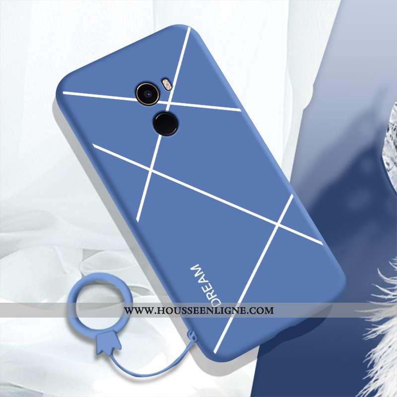 Coque Xiaomi Mi Mix 2 Silicone Protection Créatif Charmant Fluide Doux Étui Incassable Bleu