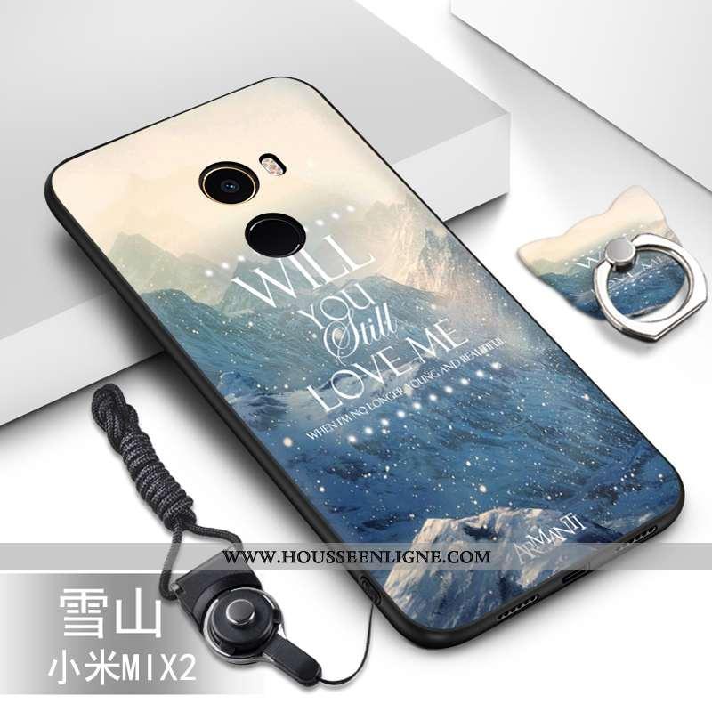 Coque Xiaomi Mi Mix 2 Silicone Protection Incassable Étui Petit Fluide Doux Bleu