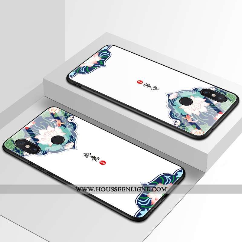 Coque Xiaomi Mi Mix 2s Légère Fluide Doux Style Chinois Téléphone Portable Net Rouge Tendance Blanc