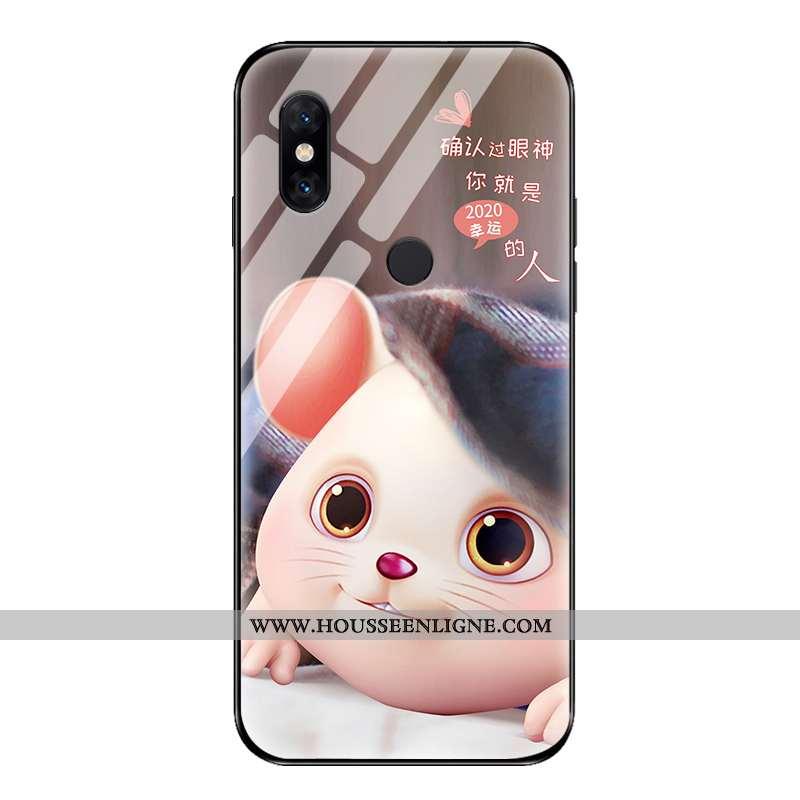 Coque Xiaomi Mi Mix 2s Tendance Légère Tout Compris Verre Silicone Téléphone Portable Simple Gris