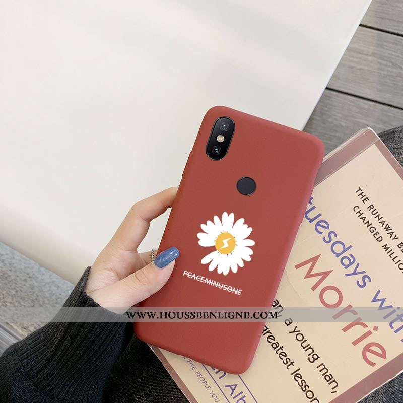 Coque Xiaomi Mi Mix 2s Tendance Protection Net Rouge Téléphone Portable Dragon Tout Compris Petit