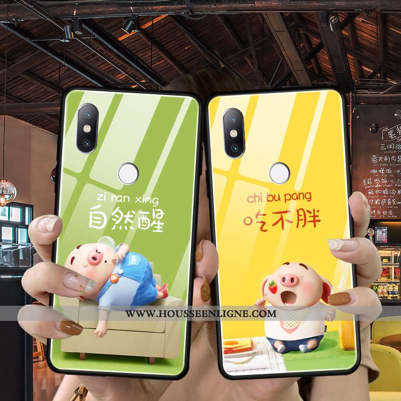 Coque Xiaomi Mi Mix 3 Protection Verre Ultra Tendance Incassable Jaune