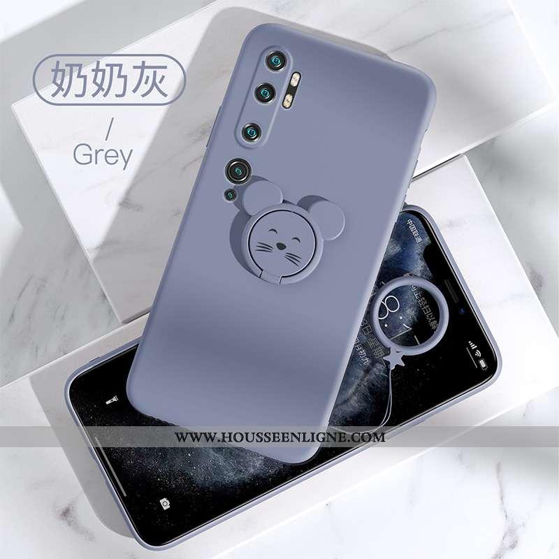 Coque Xiaomi Mi Note 10 Créatif Tendance Gris Téléphone Portable Rat Nouveau