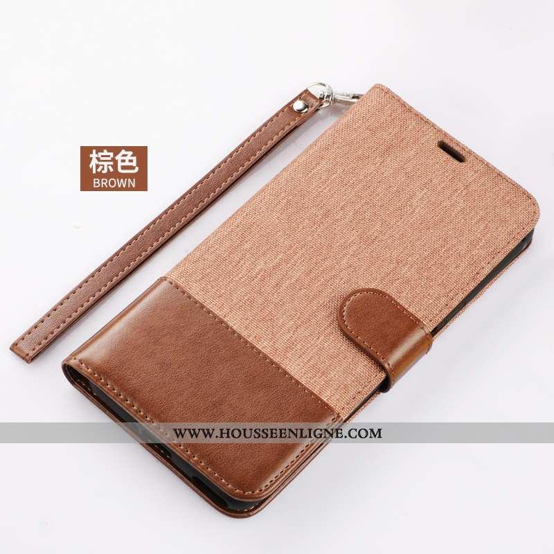 Coque Xiaomi Mi Note 10 Cuir Tout Compris Téléphone Portable Incassable Étui Housse Marron