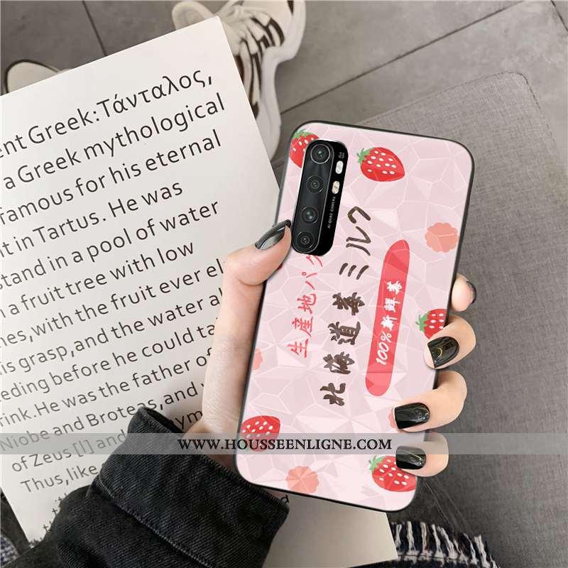 Coque Xiaomi Mi Note 10 Lite Modèle Fleurie Personnalité Rose Net Rouge Incassable Jeunesse
