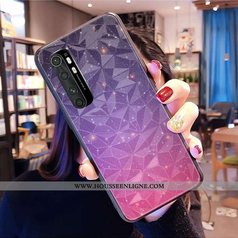 Coque Xiaomi Mi Note 10 Lite Modèle Fleurie Protection Losange Tout Compris Personnalisé Jeunesse Té