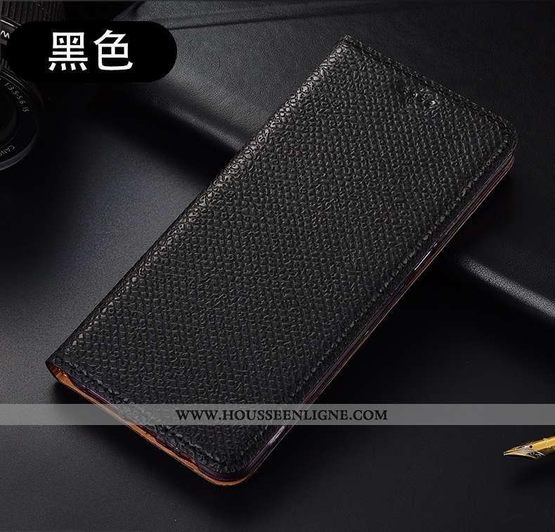 Coque Xiaomi Mi Note 10 Lite Protection Cuir Véritable Noir Étui Tout Compris Incassable Téléphone P