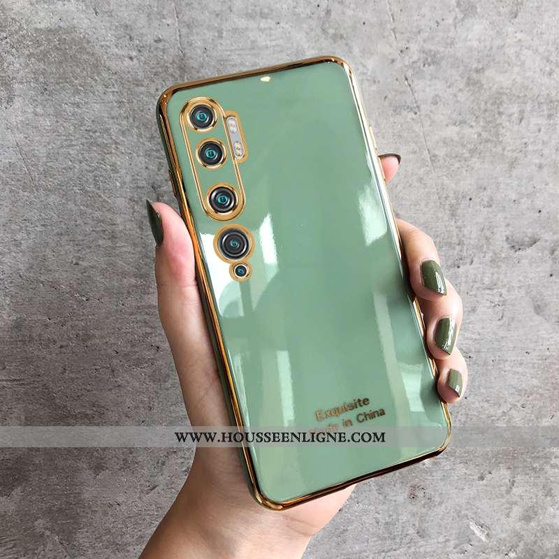 Coque Xiaomi Mi Note 10 Silicone Personnalité Incassable Placage Téléphone Portable Tout Compris Ver