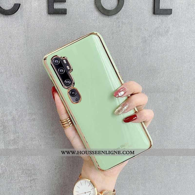 Coque Xiaomi Mi Note 10 Silicone Tendance Fluide Doux Modèle Fleurie Petit Téléphone Portable Jeunes
