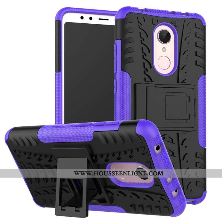 Coque Xiaomi Redmi 5 Fluide Doux Protection Tout Compris Tendance Étui Difficile Violet