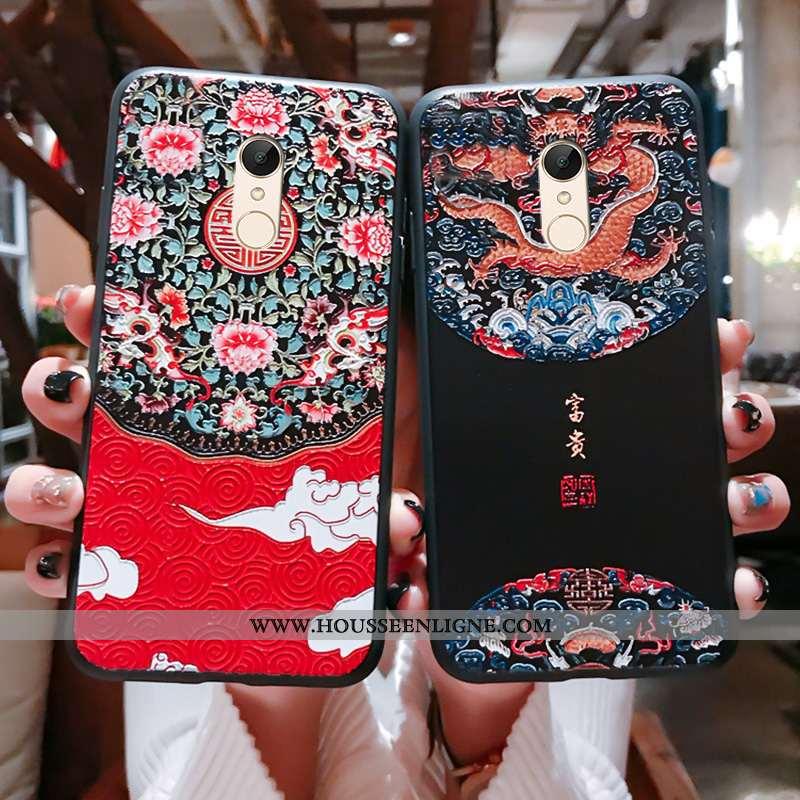 Coque Xiaomi Redmi 5 Gaufrage Vintage Support Téléphone Portable Ornements Suspendus Étui Tout Compr
