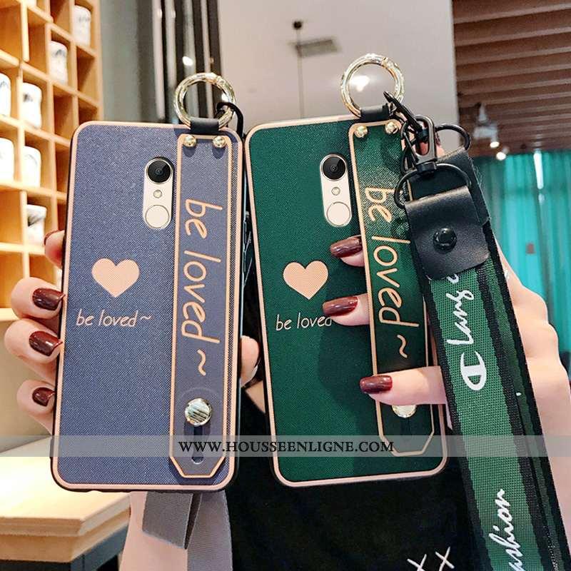 Coque Xiaomi Redmi 5 Tendance Fluide Doux Tout Compris Téléphone Portable Étui Protection Vert Verte
