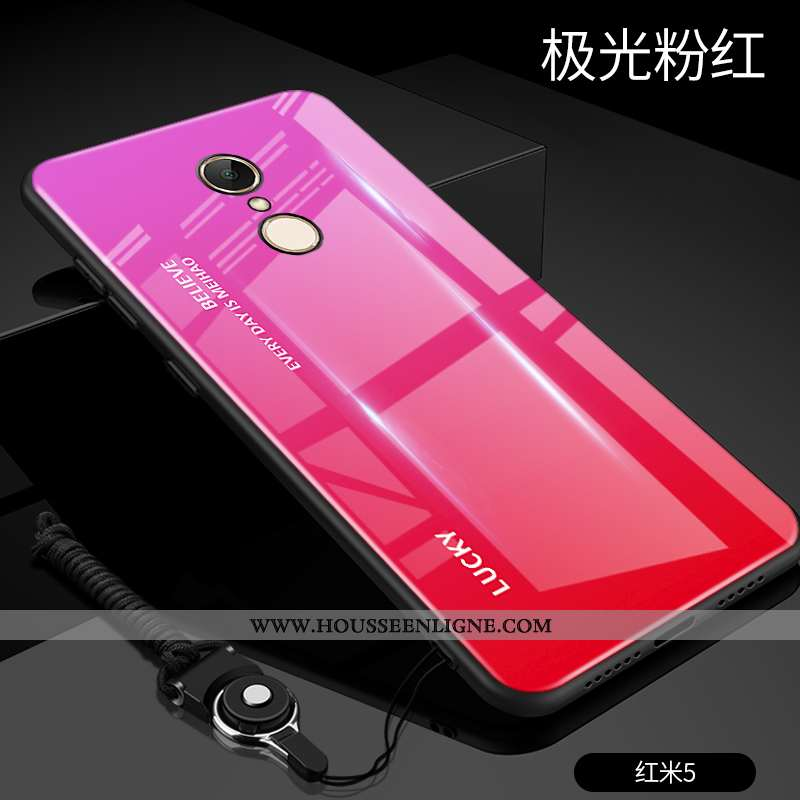 Coque Xiaomi Redmi 5 Ultra Tendance Légère Rouge Difficile Tout Compris