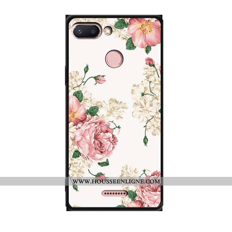 Coque Xiaomi Redmi 6 Fluide Doux Silicone Téléphone Portable Tendance Étui Rose Créatif
