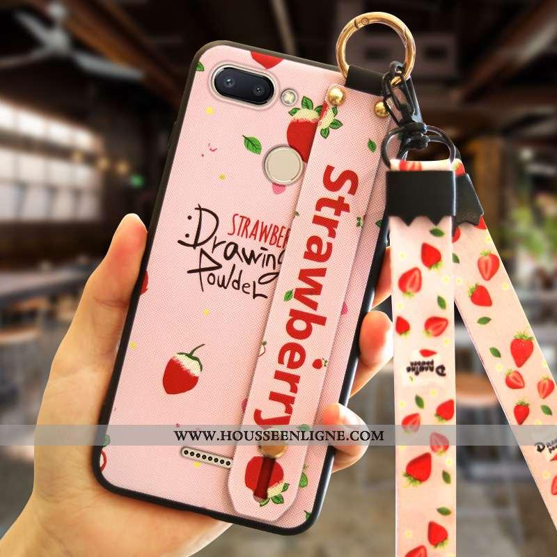 Coque Xiaomi Redmi 6 Mode Personnalité Tendance Tout Compris Créatif Rouge Rose