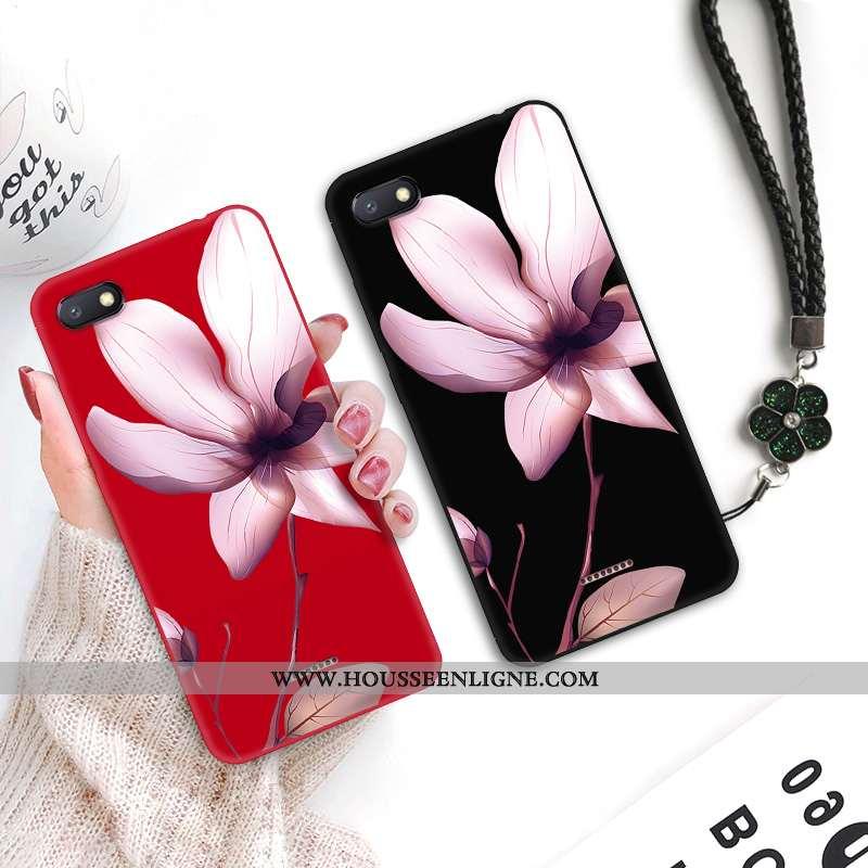 Coque Xiaomi Redmi 6a Personnalité Créatif Fluide Doux Silicone Petit Dentelle Art Noir