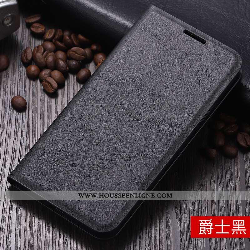 Coque Xiaomi Redmi 6a Personnalité Cuir Business Support Rouge Net Rouge Téléphone Portable Noir