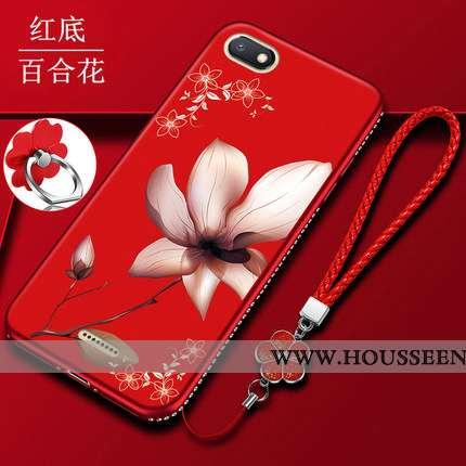 Coque Xiaomi Redmi 6a Silicone Protection Étui Petit Téléphone Portable Tout Compris Rouge