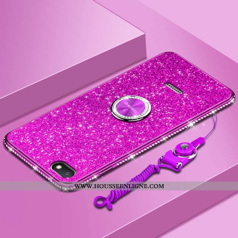 Coque Xiaomi Redmi 6a Tendance Fluide Doux Net Rouge Tout Compris Personnalité Protection Violet