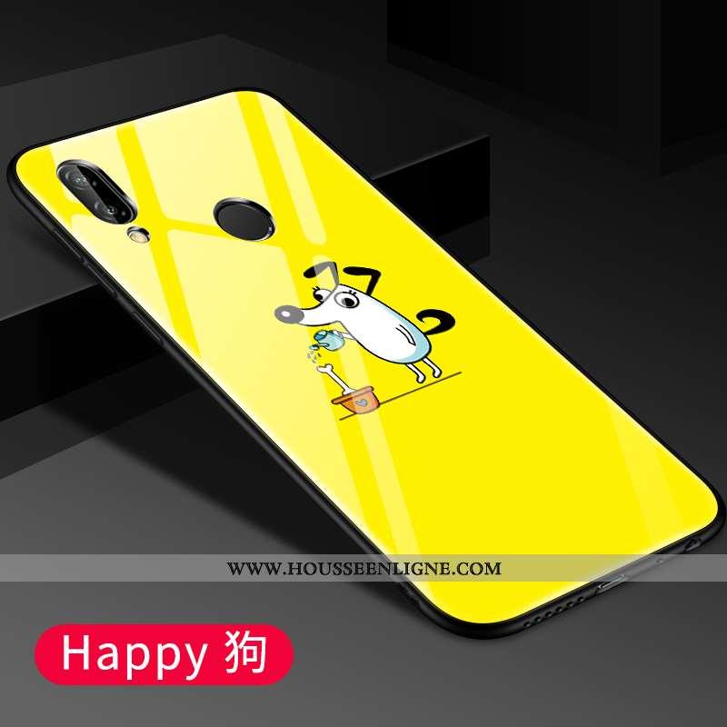 Coque Xiaomi Redmi 7 Légère Protection Verre Jaune Téléphone Portable Étui