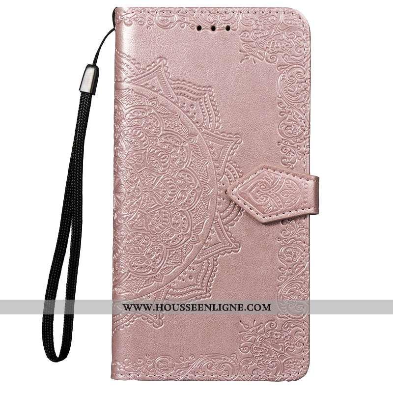Coque Xiaomi Redmi 7 Protection Cuir Petit Téléphone Portable Silicone Étui Rose