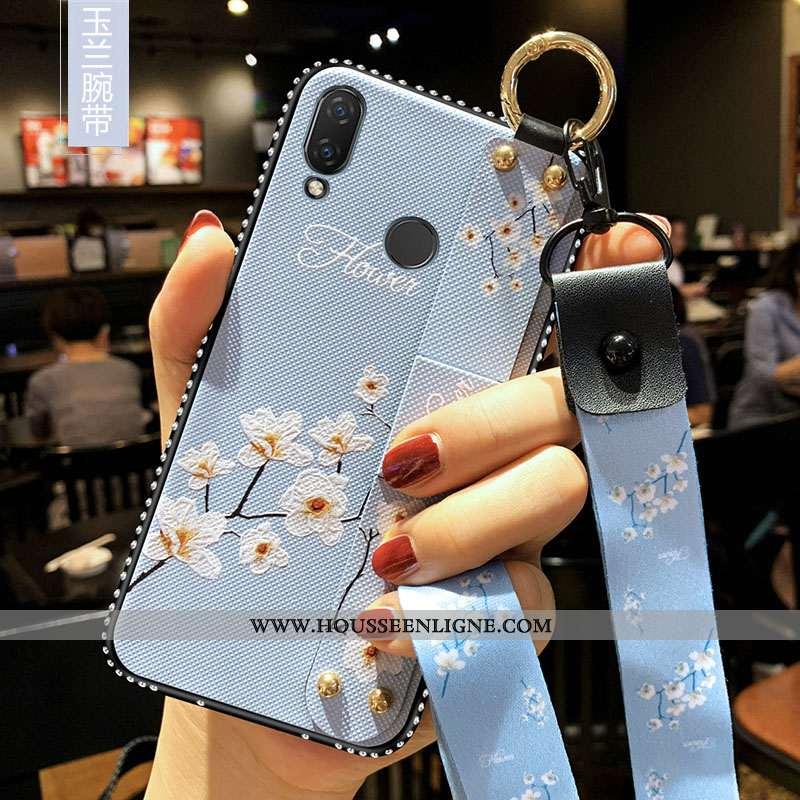 Coque Xiaomi Redmi 7 Tendance Fluide Doux Étui Frais Silicone Téléphone Portable Bleu