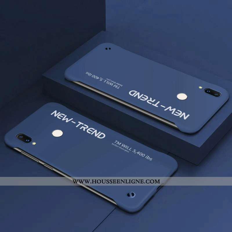 Coque Xiaomi Redmi 7 Ultra Tendance Incassable Border Simple Difficile Bleu Foncé